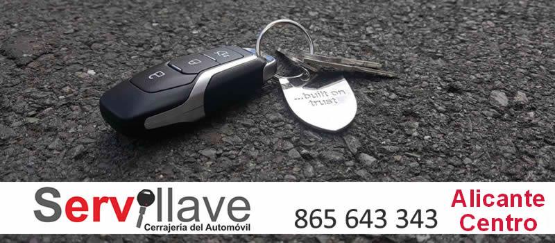 perdida llave de coche autocerrajeros Alicante Centro