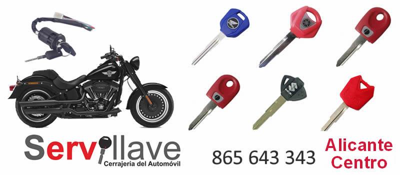 perdida llave de moto autocerrajeros Alicante Centro