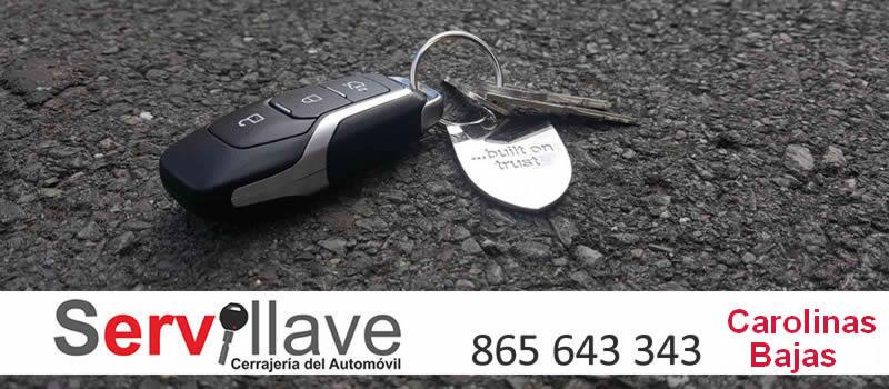 perdida llaves de coches autocerrajeros carolinas bajas