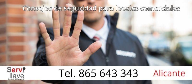 consejos de Servillave evitar robos en locales comerciales de Alicante