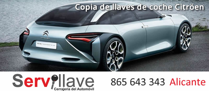 copia llaves coche citroen alicante