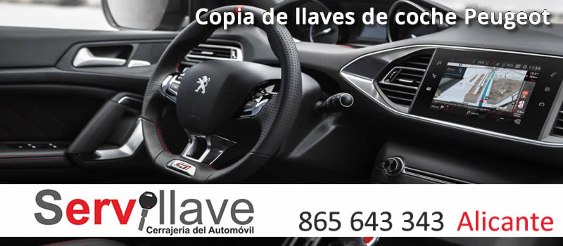 copia llaves coche peugeot alicante