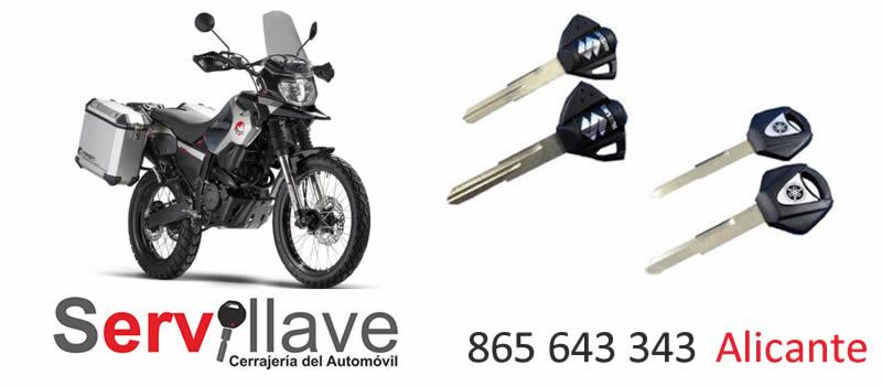Copias de llaves de moto en Alicante