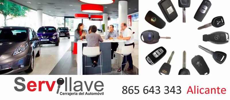 Servicio directo duplicado de llaves de coche y moto para concesionarios en Alicante