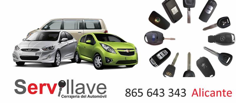 Servicio directo duplicado de llaves de coche y moto para empresas de alquiler de vehículos en Alicante
