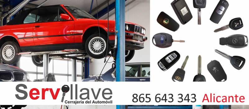 Servicio directo duplicado de llaves de coche y moto para talleres en Alicante