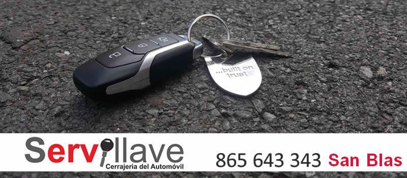 perdida llave de coche autocerrajeros San Blas