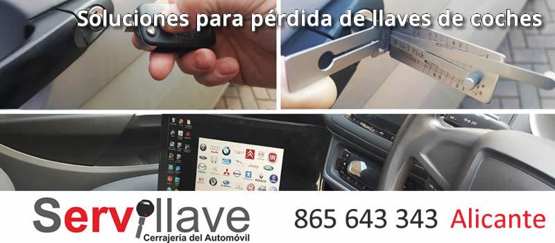 soluciones para perdida de llaves de coche alicante